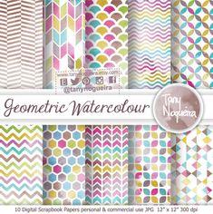 https://www.etsy.com/mx/listing/216632313/acuarela-geometrica-geometria-fondos #handmadepaper scrapbooking #digitalcollage #instantdownload #watercolorblog #geometric