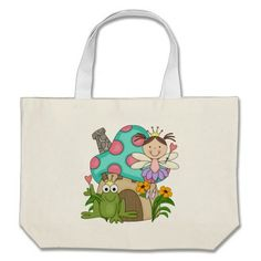 Frog Fairy Toadstool House Tshirts and Gifts Canvas Bag