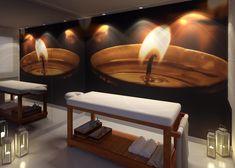 Perspectiva Artística da sala de massagem