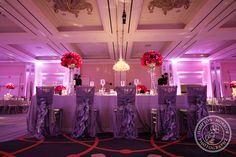 Four Seasons Dallas Wedding, Gray & Magenta Wedding