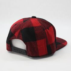 fed3c1bcdb9 Premium Wool Blend Plaid Adjustable Snapback Baseball Cap Black Red      Find out more about the great product at the image link.