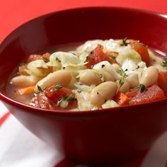 Cannellini and Cabbage Soup - Fitnessmagazine.com (substitute vegetable broth for chicken broth)