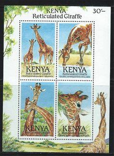 Kenya SC495 Souv.Sht. Giraffes-World WildLife Fund MNH 1989