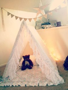 DIY A frame tent.  SO cheap and easy!