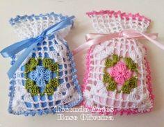 Tecendo Artes em Crochet: Sachês Saquinhos Fofos!