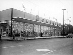 - A Dominion supermarket, located at Cannon Street East at Wellington Street North. I remember shopping there with my mother as a child. Hamilton Ontario Canada, Windsor Ontario, Essex County, Marina Bay Sands, Street View, Cannon, Retro Food, Travel, Retail Stores