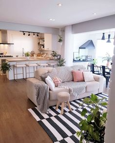 Much love for this environment, this beautiful apartment is the girls of the . - Home Decor, Best Decoration İdeas, Designs Home Decor Kitchen, Home Living Room, Home N Decor, Living Room Decor Apartment, Home Decor, House Interior, Apartment Decor, Home And Living, Home Decor Furniture