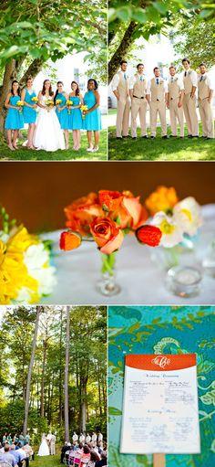 Program + Fan. Great for outdoor weddings