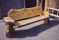 Log Benches