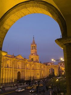 La Catedral, Plaza de Armas - Arequipa, Peru. This is how we roll in South America