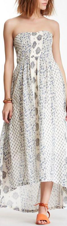 sky printed dress