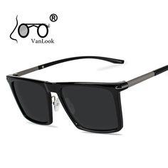 e340b959c2 Polarized Square Sunglasses For Men Women Polaroid Sun Glasses Men's  Sunglass Gafas Polarizadas de Hombre Fashion