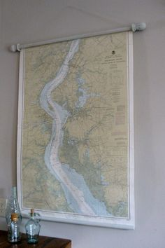 handmade vintage classroom map ... I am SO doing this!