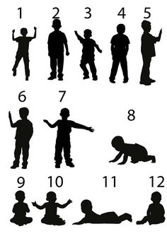 Children Silhouettes Children Silhouettes Image, Play ...