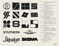 Eric Carl Collection of vintage logos from a edition of the book World of Logotypes jpg Logos Retro Design, Icon Design, Logo Design, Graphic Design, Trademark Symbol, Logo Luxury, Brand Symbols, Logos Retro, Logo Shapes