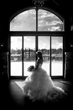 Cambridge Mill Ontario Canada Wedding Photography Experts Dramatic Windows Ballgown