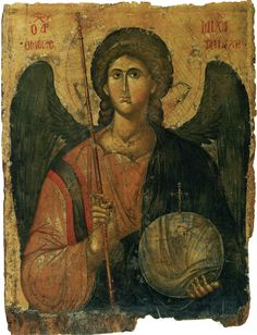 Archangel Michael he who is like god Heaven and Earth: Art of Byzantium from Greek Collections (Getty Villa Exhibitions) Byzantine Icons, Byzantine Art, Religious Icons, Religious Art, Archangel Prayers, Art Beauté, Saint Michel, National Gallery Of Art, Art Icon