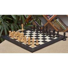 """Schachspiel – Das Rennpferd ,, French Warrior """" luxuriöse Schachfiguren aus Ebenholz und Buchsbaumholz(König 124mm) mit furniertem Schachbrett aus Anigre schwarz und Ahornholz >> http://www.chessbazaar.de/schachspiel/exklusive-schachspiele/schachspiel-das-rennpferd-french-warrior-luxuriose-schachfiguren-aus-ebenholz-und-buchsbaumholz-konig-124mm-mit-furniertem-schachbrett-aus-anigre-schwarz-und-ahornholz.html"""