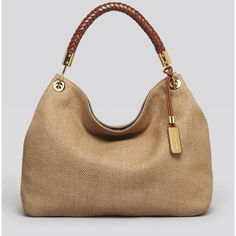 Michael Kors Large Shoulder Bag - Skorpios Woven ($895) ❤ liked on Polyvore