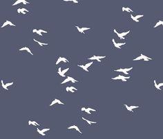 Birds Slate Grey - Bunni