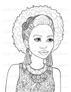 African American Woman Coloring Pages Coloring books
