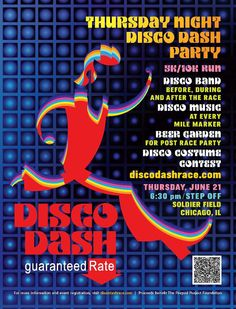 """Guaranteed Rate's 2012 Disco Dash!  There will be a 5k and a 10k run and  the proceeds benefit """"The Peapod Project"""" The Peapod Project provides resources for parents who have lost a child. You can sign up at http://www.guaranteedrate.com/chicago-disco-dash-race last year was a ton of fun, and this year looks to be even better!"""