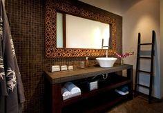 Home-Dzine - Bali style Balinese Bathroom, Indonesian Decor, Bali Spa, Bamboo Sofa, Modern Interior, Interior Design, Bali Style, Bali Fashion, Beautiful Bathrooms