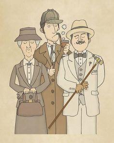 What a fun sketch.  Sherlock is visiting