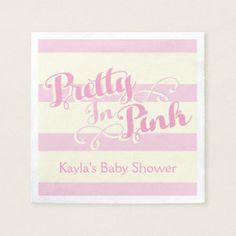 Pretty in Pink Baby Shower, Custom Napkins