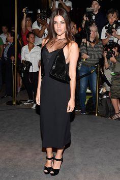 Julia Restoin Roitfeld au défilé Tom Ford, Fashion Week de New York, Septembre 2016