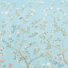 Schumacher X Miles Redd Madame De Pompadour Wallpaper in Aqua - on Chairish Wallpaper For Sale, Chic Wallpaper, Wallpaper Samples, Custom Wallpaper, Pattern Wallpaper, Iphone Wallpaper, Luxury Wallpaper, Room Wallpaper, Desktop Wallpapers