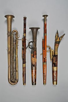 Contrabass sarrusophone, 2 bassoons, 2 russian bassonns (France, 19th C.)