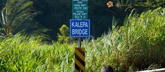 KALEPA BRIDGE (Maui) — Kalepa Bridge marks the end of the Hana Highway (Route 360) and the beginning of Piilani Highway (Route 31), otherwise known as the