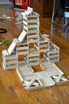 Sole Searching Mama: Keva Planks ~ 10 Tips for Beginners Jenga Blocks, Wood Blocks, Indoor Activities For Kids, Stem Activities, Wood Projects For Kids, Crafts For Kids, Lego Duplo, Legos, Kids Blocks