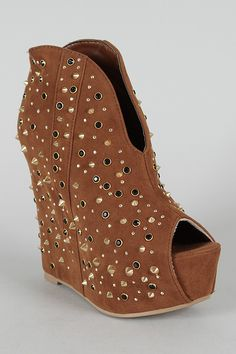 524cfd1bf52 Paxton-2 Studded Peep Toe Wedge Bootie