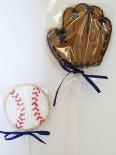 Handmade Baseball Theme Decorated Sugar Cookie by SweetRoseCookies, $36.00