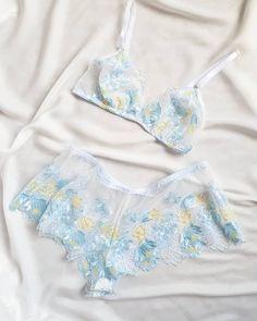 Blue Lingerie, Lingerie Outfits, Pretty Lingerie, Lingerie Set, Sexy Outfits, Women Lingerie, Fashion Outfits, Wedding Lingerie, Vintage Lingerie