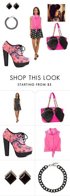 polka dot dress with button up. Gabriella Rocha, Fashion Women, Women's Fashion, White Floral Dress, Iron Fist, Betsey Johnson, Amy, Women's Clothing, Clothes For Women