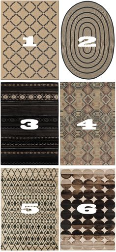 Tan and Black Rugs