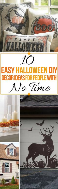 These 10 Halloween decor ideas are THE BEST! I'm so glad I found these AWESOME Halloween DIY ideas and projects! Now my home will look so cool! Definitely pinning!
