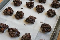 Low-Sugar and Flourless Chocolate Coconut Drops with Almonds (Gluten ...