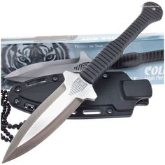Cold Steel 49NDE Hide Out Neck Knife Griv-Ex Handle w/ Sheath | MooseCreekGear.com | Outdoor Gear — Worldwide Delivery! | Pocket Knives - Fixed Blade Knives - Folding Knives - Survival Gear - Tactical Gear