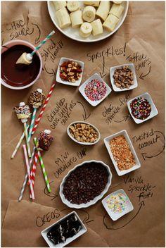 Chocoladefondue- of ijsjesfeest
