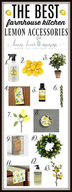 The Best Farmhouse Kitchen Lemon Accessories