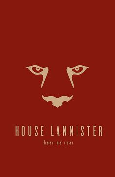 House Lannister Minimalist Poster by Thomas Gateley
