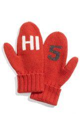 """kate spade """"hi 5"""" mittens"""