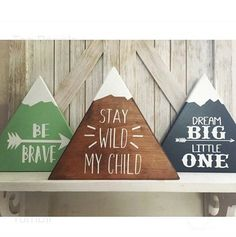 Adorable mountains. This listing is for one(1) mountain. The mountains are offered in three different sizes. Choose from 8, 10, or 12. This is the measurements on all 3 sides. Please leave a note to seller detailing the color you would like as well as the quote or design. We have