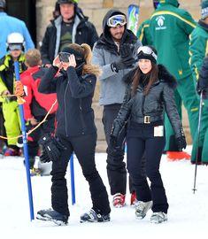 Kourtney Kardashian - Skiing with Kim and Scott Disick on New Year's Eve in Utah