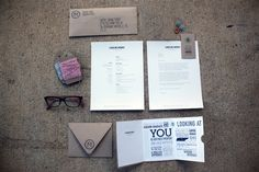 fantastic self promotion materials from designer caroline marie morris