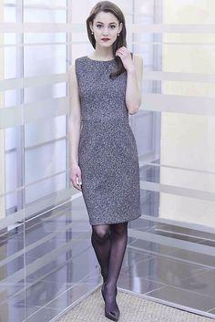 Nora Gardner -- Tweed Print Olympia Dress. Made in NYC.